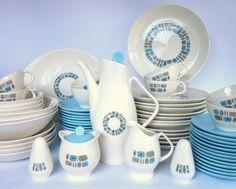 69-Piece Temporama Mid Century Dinnerware Set