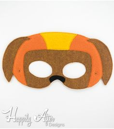 FREE Helmet Dog Mask ITH Embroidery Design - Great for Paw Patrol theme parties and Zuma costumes!