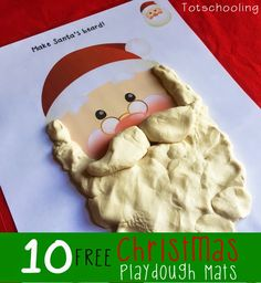 Free Christmas Playdough Mats