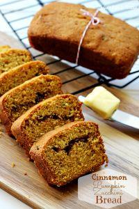 Cinnamon Swirl Zucchini Pumpkin Bread on MyRecipeMagic.com - Somethin to try with GF all purpose flour!