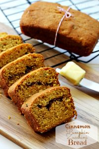 Cinnamon Swirl Zucchini Pumpkin Bread on MyRecipeMagic.com #bread #zucchini #pumpkin #cinnamon #swirl