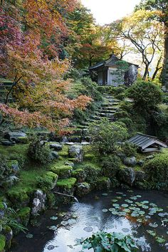 of the floating world - Japanese Garden Design Japanese Garden Design, Home Garden Design, Chinese Garden, Japanese Gardens, Beautiful Landscapes, Beautiful Gardens, Japan Garden, Floating, Garden Spaces