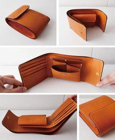 Leather wallet - queria uma desse jeitinho!                              …