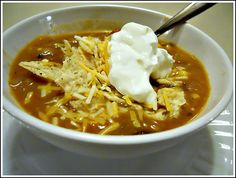 Spicy Refried Bean Soup recipe--use water or vegetable broth instead of chicken broth.  Serve alone with sliced avocado or with a simple salad. Or use the Mexican Salad with Chipolte Lime dressing pin on this board only.