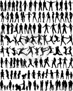 Royalty Free Stock Image: Subject People Silhouettes. Image: 4806446