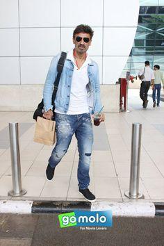 Rahul Dev snapped at Mumbai Domestic Airport