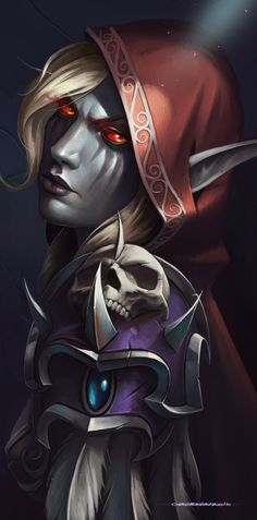 Sylvanas, Ilya Ozornin on ArtStation at https://www.artstation.com/artwork/PGXby - More at https://pinterest.com/supergirlsart/ World of Warcraft #worldofwarcraft #wow #sylvanas #portrait #fanart