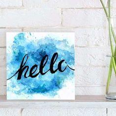 quadro decorativo hello blue