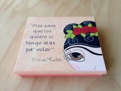 Caja Frida por Angélica Tamayo Arte Country, Biscuit, Sharpies, Decoupage, Decorative Boxes, Drawings, How To Make, Crafts, Painting