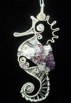 Seahorse pendant by EmmaWyattArt on Etsy, £35.00
