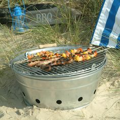 Galvanised Rock Bbq Beach Pool Camping Grill
