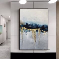 Abstract Canvas Art, Oil Painting Abstract, Oil On Canvas, Canvas Wall Art, Bedroom Canvas, Diy Canvas, Bedroom Wall, Types Of Art Styles, Nordic Art