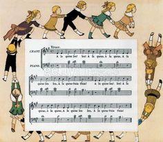 Chansons de France, by Louis-Maurice Boutet de Monvel, French illustrator  (1851 – 1913)