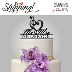 Perfect https://www.etsy.com/listing/186710605/wedding-music-note-cake-topper-mr-mrs