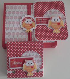 kit com bloquinho+ caixa+cartão Kit digital Teacher By Cristina Oliveira