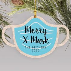 2020 is a year for the books and face masks took center stage for most of year. Create a fun keepsake to look back at the year with our Merry X-Mask Christmas mask #personalizedornaments #christmasornaments #2020Christmasornaments #woodornaments Personalized Christmas Ornaments, Christmas Tree Ornaments, Word Art Design, Wood Ornaments, Mask Design, Face Masks, Personalized Gifts, Merry, Center Stage