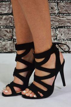Dance The Night Away Heels: Black  URL : http://amzn.to/2nYmnGHDiscount Code :  RNBP7RSD #promheelsstrappy #blackhighheelsforprom