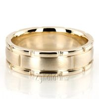 Superb K Gold Rolex Style Handcrafted Wedding Ring gold karats