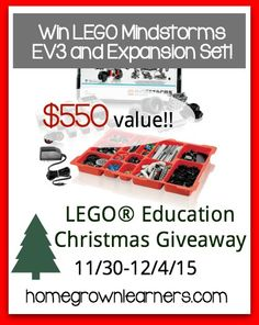 LEGO Mindstorms Christmas Giveaway at Homegrown Learners