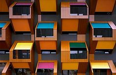"""Apartments on the Coast by Ofis  This complex was constructed as a low-income residence for young families and couples in the industrial district of Izola on the Slovenian coast. The project is simply called """"Apartments on the coast"""" and it was designed by OFIS"""
