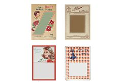 Vintage Button Cards Instant Download Digital by sssstudio on Etsy