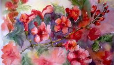 Red Flower Watercolor by Ela Rusu Flower Watercolor, Facebook Sign Up, Red Flowers, Painting, Art, Art Background, Painting Art, Kunst, Paintings