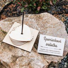 Svadobná kniha pre hostí - spomienkové srdiečka