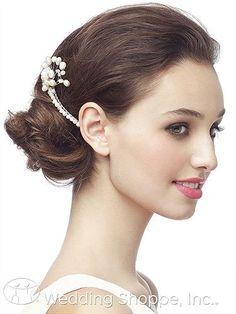 Dessy Bridal Headpiece Pearl Spray Haircomb / H-FPSCOMB