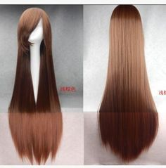 100cm long brown straight Anime cosplay hair wig at www.costwe.com ,Synthetic Hair Wig Cheap Curly Wigs ,long wavy wig shop at www.costwe.com