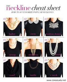 Accessorize for your top's neckline