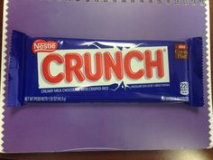Chocolate is scrumptious when it crunches, that's why I love Nestle Crunch with an FOP calorie label!