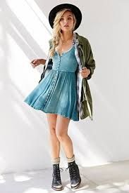 Image result for denim dress outfit