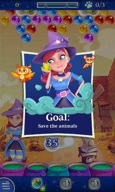 Bubble Witch 2 by King - Objective Flyin - Match 3 Game - iOS Game - Android Game - UI - Game Interface - Game HUD - Game Art