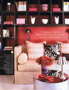 I want shelves like this in my office with a futon instead of couch