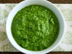 Delicious Kale Basil Pesto-tried almonds and walnuts and the walnut was the best.