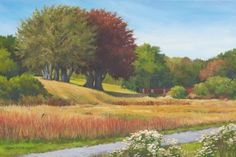 """Daily Paintworks - """"Call of the Redwings  (Sea View Park, Cape Cod, MA) An Original Oil Painting by Claire Beadon Carn"""" - Original Fine Art for Sale - © Claire Beadon Carnell"""