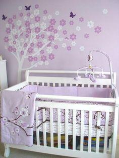 Purple Baby Girl Bedroom Ideas baby girl nursery/bedroom color theme (gray, purple & aqua) with