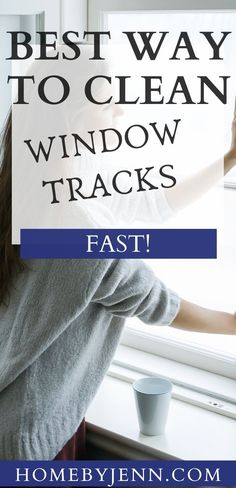 Learn how to clean window tracks fast and the right way. Get rid of any dust, dirt, and debris lingering for a fresh and clean window track. #windows #cleaning #guide #howto #best #easy #windows #home #fresh via @homebyjenn Cleaning Hacks, Cleaning Routines, Daily Routines, Cleaning Window Tracks, Clean Window, Baking Soda Vinegar, How Do You Clean, All Purpose Cleaners, Wipe Away