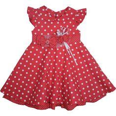 Cegonha Feliz Roupas Bebê Menina : *Vestido para Bebê Alicia Vermelho - Beth Bebê