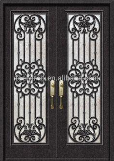 Moderna puerta de entrada de hierro de china para uso residencial-en Puertas de Puertas y Ventanas en m.spanish.alibaba.com.
