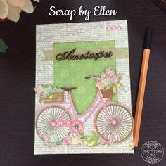 Agenda anotações bicicleta fofa scrapbook
