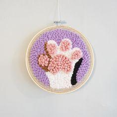 Hand Embroidery Stitches, Knitting Stitches, Knitting Yarn, Love Crochet, Crochet Yarn, Arte Punch, Crafty Fox, Punch Needle Patterns, Perler Beads