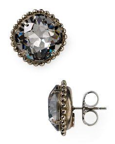 Sorrelli Round Crystal Stud Earrings | Bloomingdale's