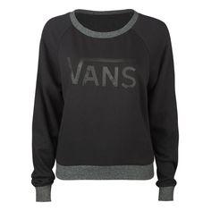 VANS Pilgrimage Womens Sweatshirt ($39) ❤ liked on Polyvore featuring tops, hoodies, sweatshirts, sweaters, shirts, jackets, women, sweatshirts & hoodies, pullover sweatshirts and raglan shirts