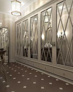 Ideas luxury closet doors home for 2019 Mirror Closet Doors, Room Doors, Mirror Door, Redo Mirror, Mirrored Wardrobe Doors, Mirrored Walls, Dressing Design, Home Theaters, Luxury Mirror