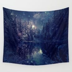 Winter Forest Deep Pastel Wall Tapestry