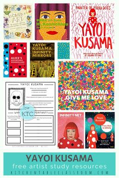 Yayoi Kusama- Free Artist Study and Booklist - The Kitchen Table Classroom Artists For Kids, Art For Kids, Art Curriculum, Curriculum Planning, Homeschooling Resources, Lesson Planning, Teaching Resources, Yayoi Kusama, Art Lessons