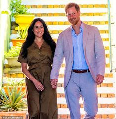 Harry and Meghan's risk being seen 'tacky' after taking JP Morgan gig J P Morgan, Jamie Dimon, Tony Blair, Harry And Meghan, Duke And Duchess, Mail Online, Daily Mail, Cape Town, Gold Jewellery