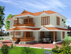 2346 Sq ft Sq M Kerala traditional home Style : Traditional Number of floors : two storey Bed rooms : 4 Bath rooms : 5 Size in Sq. Two Story House Design, Village House Design, Bungalow House Design, House Front Design, House Design Photos, Indian Home Design, Kerala House Design, My House Plans, Modern House Plans