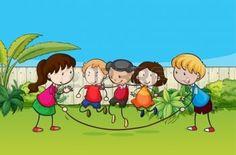 Ilustraci�n de los ni�os jugando en el jard�n photo Childhood Days, Comics, Illustration, Nature, Projects, Kids, Fictional Characters, Beautiful, Art